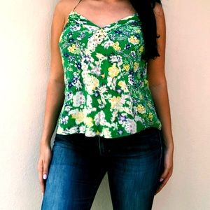 Rebecca Taylor Silk Floral Tank